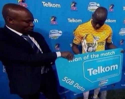 پنج گیگ اینترنت، جایزه بهترین بازیکن زمین در آفریقا