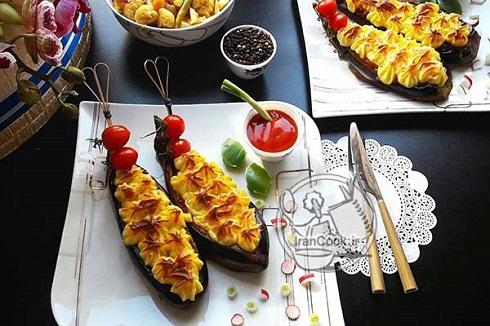 دستور پخت بادمجان شکم پر تبریزی