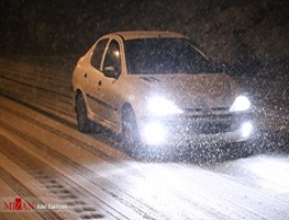 بارش برف خوزستان را سفیدپوش کرد