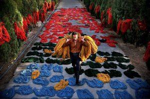 قالی های اراک از رنگهای طبیعت