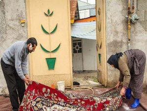 قالیشویی به سبک سنتی گیلانی ها در آستانه نوروز