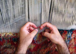 چگونگی بافت یک قالی دستباف