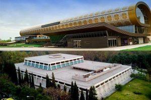 تفاوت در معماری موزه فرش تهران و باکو