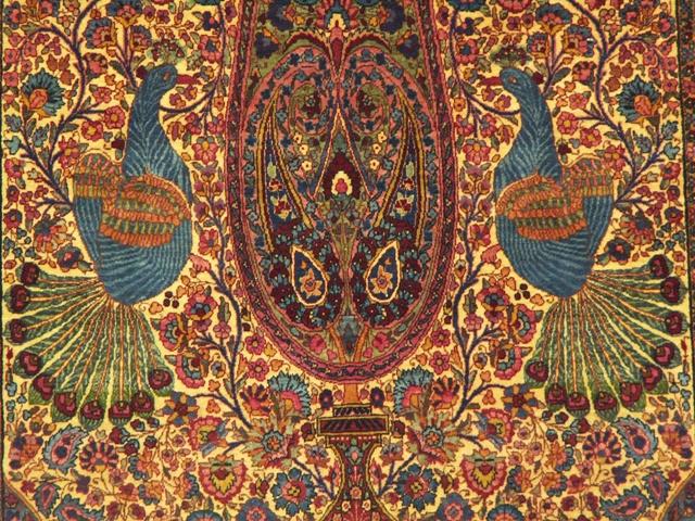 معرفی قاليچه سروی طاووسی