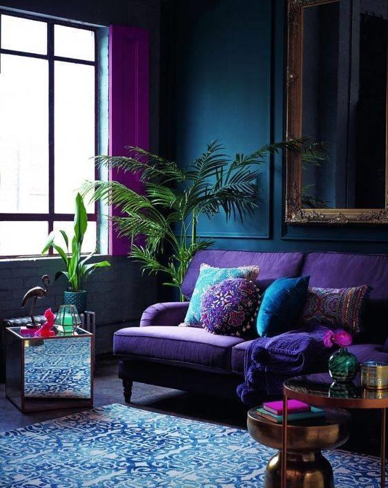 تاثیر رنگ بنفش در دکوراسیون منزل