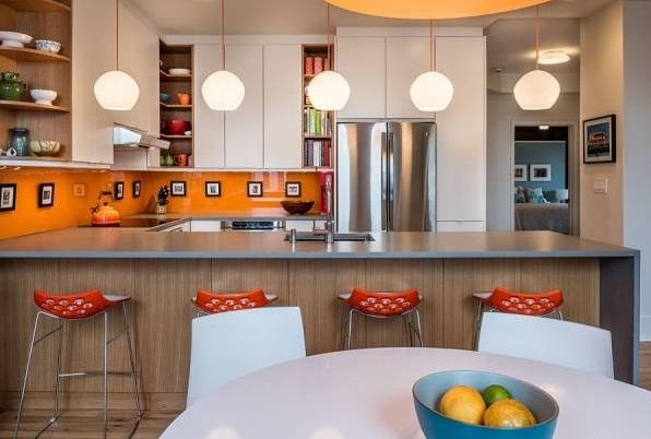 دکوراسیون فوق العاده شیک آشپزخانه