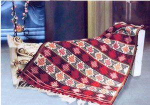 گلیمچه ی متکازین دستبافته ی اصیل و زیبای مازندران