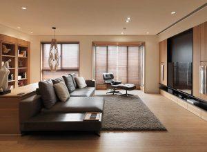 طراحی دکوراسیون داخلی خانه با استفاده از چوب