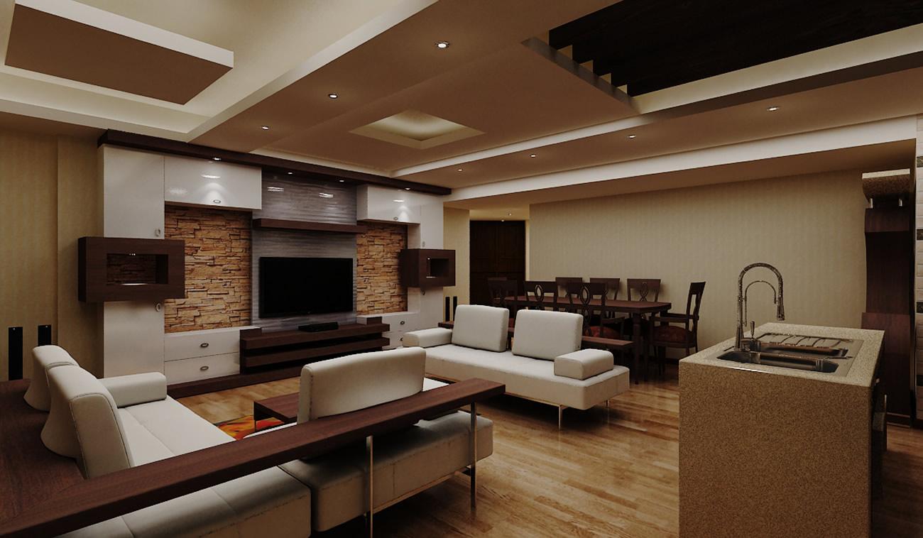 طراحی داخلی خانه با آکوستیک