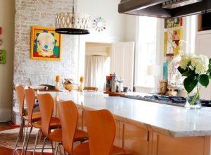 طراحی داخلی خانه با استفاده از دیوار های آجری