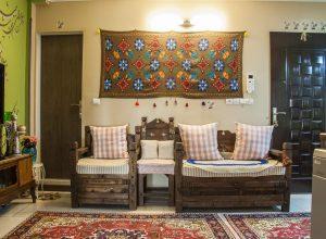 هنر نمایی فرش های سنتی ایرانی در دکوراسیون خانه
