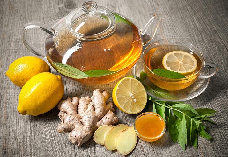 طرز تهیه دمنوش زنجبیل با عسل و لیمو